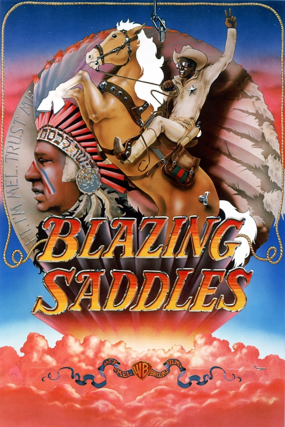 "Poster for the movie ""Blazing Saddles"""